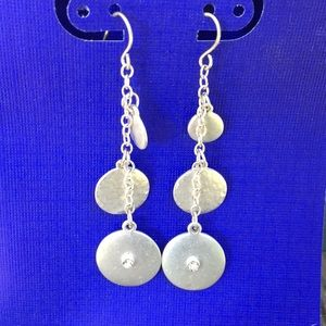 Silver Tone Dangle Earrings 5/$25